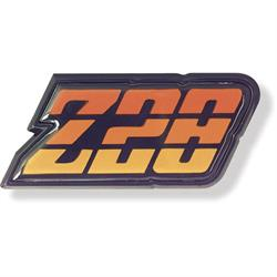 Trim Parts 6956 Reproduction Orange Z28 Fuel Door Emblem, 80-81 Camaro