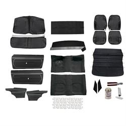 PUI Basic Black Interior Kit, 1969 Camaro Coupe, Bucket Seats
