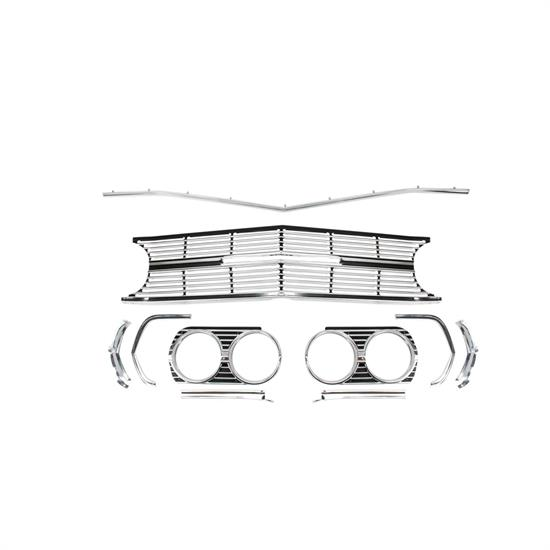 RESTOPARTS A6491B Grille Kit, 1965 Chevelle SS, 6 Piece