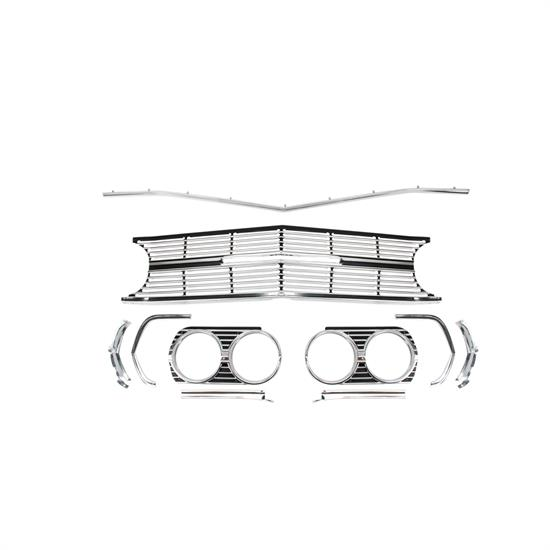 original parts group a6491b grill kit 1965 chevelle ss 6 piece. Black Bedroom Furniture Sets. Home Design Ideas