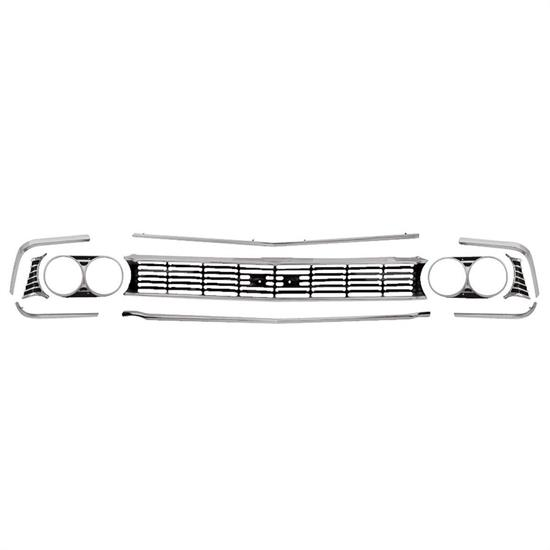 RESTOPARTS A6491C Grille Kit, 1966 Chevelle SS, 6 Piece