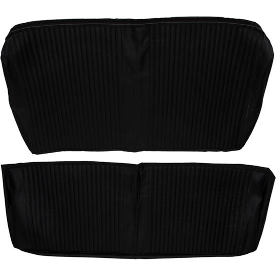 Rear Seat Upholstery,  1964 Chevelle Coupe, Black