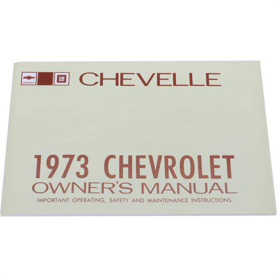 1973 Chevelle Owners Manual