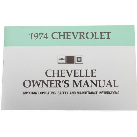 1974 Chevelle Owners Manual