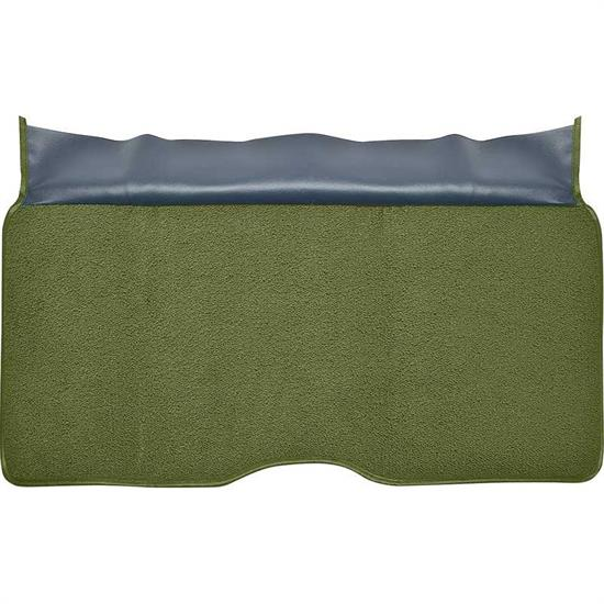 OER 310014 1969 Camaro Moss Green Loop Fold Down Rear Seat Carpet