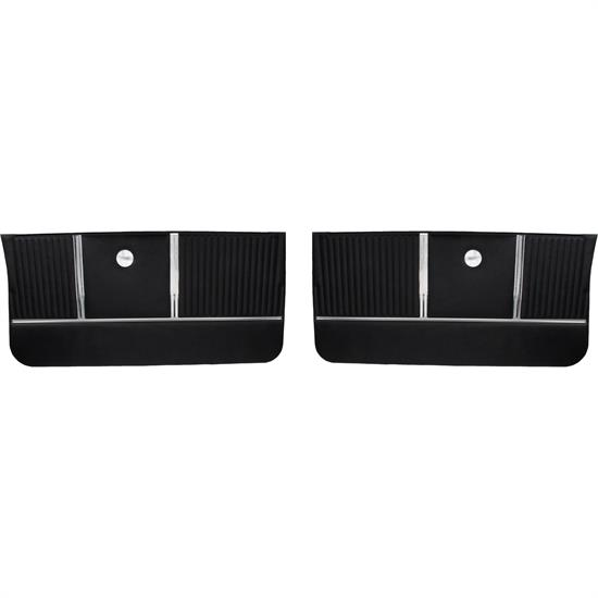 PUI Interiors PD300 Front Door Panels, 1964 Malibu SS, Black