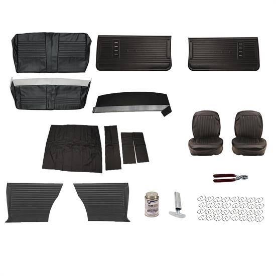 Complete Interior Upholstery Kit, 1966 Chevelle, Black
