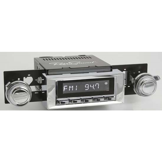 RetroSound RC900C-115-121-03-73 Classic Radio, 1965-66 Impala, Chrome