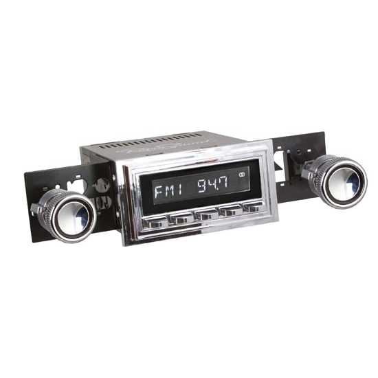 RetroSound RC900C-126-08-80 Classic Radio, 1967-68 Mustang, Chrome