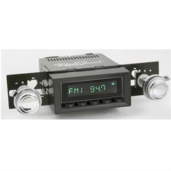 RetroSound HB-216-217-37-73 Hermosa Radio, 1970-77 Camaro, Black