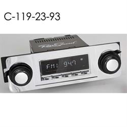RetroSound HC-119-23-93 Hermosa Radio, 1967-72 Chevy Truck, Chrome