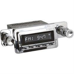 RetroSound HC-125-04-74 Hermosa Radio, 1964-66 Mustang, Black