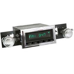RetroSound HB-126-55-75 Hermosa Radio, 1969-73 Mustang, Black