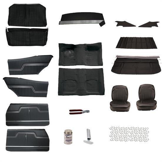 complete interior upholstery kit 1970 chevelle black. Black Bedroom Furniture Sets. Home Design Ideas