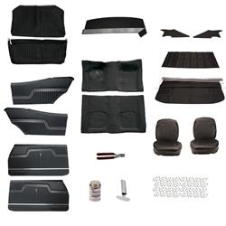 Complete Interior Upholstery Kit, 1970 Chevelle, Black