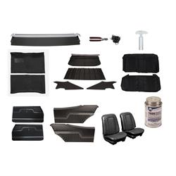Complete Interior Upholstery Kit, 1971-72 Chevelle, Black