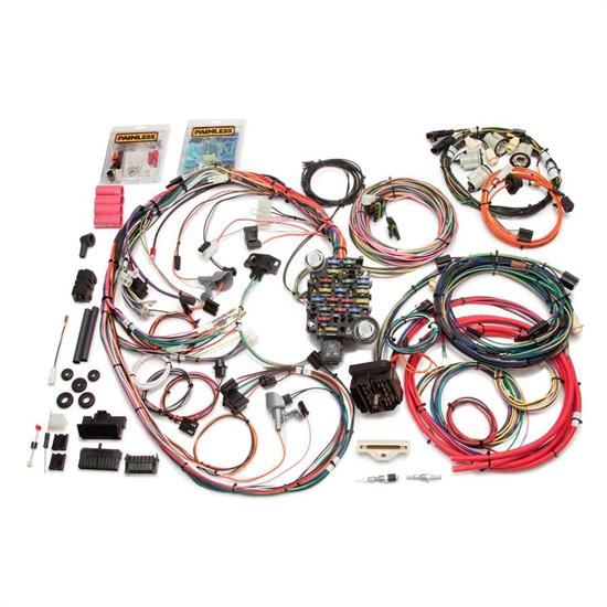 painless wiring 20113 26 circuit wiring harness 1974 77 camaro rh speedwaymotors com painless wiring harness chevy vega painless wiring harness chevy 350