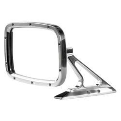 Rectangular Billet Exterior Rear View Mirror, Convex Glass