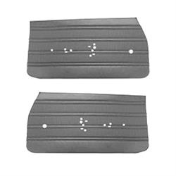 PUI 70UD10-P Front Door Panels, 1970 Buick Skylark, Black, Pair