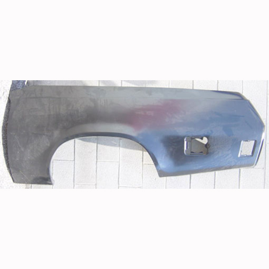 Sherman 709-50ER 73-77 El Camino RH Quarter Panel Skin, Steel