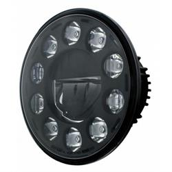 United Pacific 31353 7 Inch Crystal Headlight, Blackout
