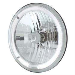 United Pacific 31285 7 Inch Crystal Headlight W/LED Halo Ring