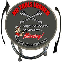 Busted Knuckle Garage 09-BKG-86-NOTOOLS No Tools Loaned Barstool