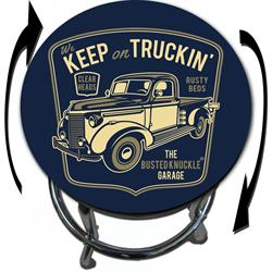 Busted Knuckle Garage 09-BKG-86-KT Keep On Truckin Barstool