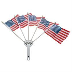 United Pacific 110862 Stainless Steel Five Flag Holder