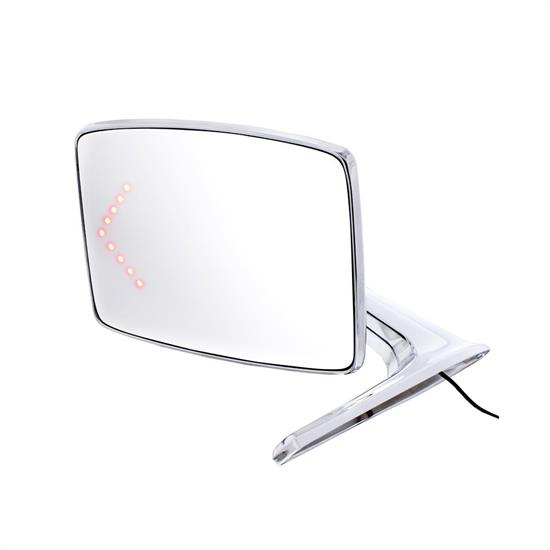 United Pacific 110736 Chrome LED LH Mirror, 1966-79 Ford Truck