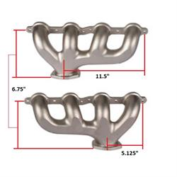 Tru-Ram® LS Exhaust Manifolds, Polished