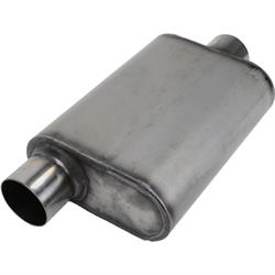 Stainless Steel Chamber Muffler, 3 Inch, Offset/Centered