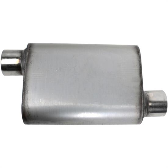 Offset//Centered Stainless Steel Chamber Muffler 3 Inch
