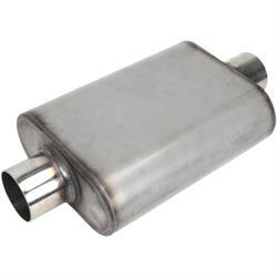 Stainless Steel Chamber Muffler, 3 Inch, Centered/Centered