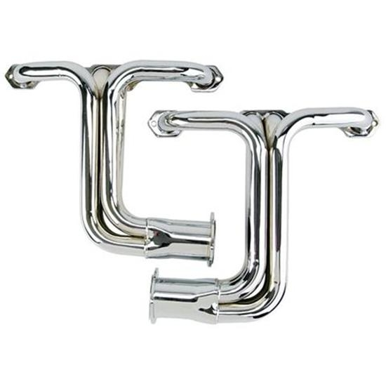 Small Block Chevy Chassis Headers, Chrome