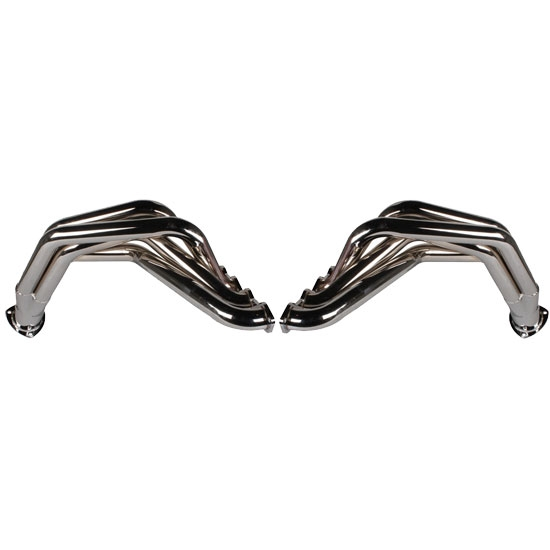Big Block Chevy Fenderwell Headers for 1955-57 Chevy, Chrome