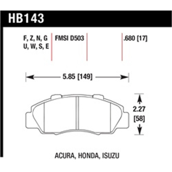 Hawk Performance HB143S.680 Disc Brake Pad Front