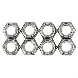 Steel Fine Thread Nylock Nuts, 3/8 Inch-24 Thread, 50 Pack