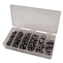 Stainless Steel Nylock Nut Kit, Fine Thread