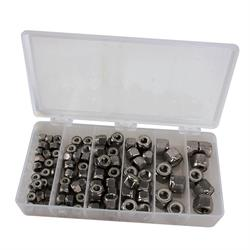 Stainless Steel Nylock Nut Kit, Coarse Thread
