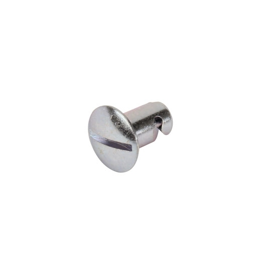 Steel Slotted Oval Head Quarter Turn Fastener, .500 Inch Grip
