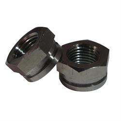 Ti64 Titanium Shock Fastener Nuts, 3/4 In Hex with 1/2 In-20 Thread