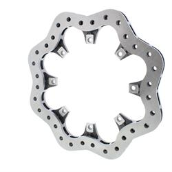 Speedway Cast Iron Drilled Scalloped Brake Rotor - 12.19 x .810