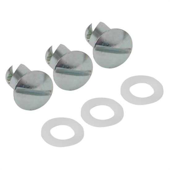 Speedway Steel Cover Buttons, 3 Piece