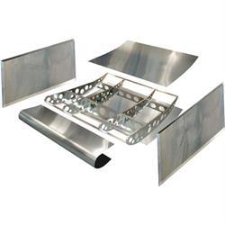 HRP Sprint Car Shark Top Wing Assembly, 5X5 Kit, 2-1/2 Inch Dish