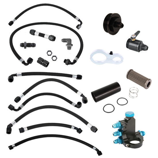 Complete Sprint Car Clamp-on Fuel Line Kit