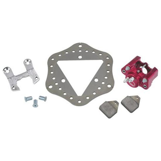 Ultra Lite Midget Left Front Brake Kit, Scalloped Rotor
