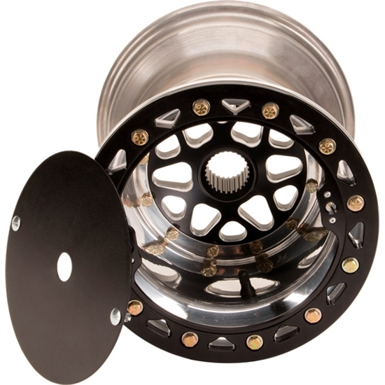 Aero-Dynamics Micro Sprint Wheel, 12 X 7 Inch with Beadlock, Black