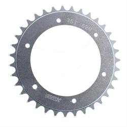 Aluminum Rear Sprocket, 5.25 Inch Bolt Circle