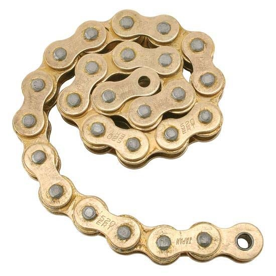 Speedway Micro-Sprint Racing 520 Gold Drive Chain, 120 Links